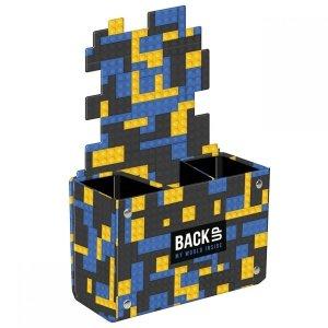 Biurkowy pojemnik na przybory szkolne BackUP klocki, BRICKS (PPSB3A52)