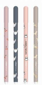 4 x Długopis CUTE Girl wymazywalny żelowy 0,5 mm PANDY, JELONEK, KONIE, WIŚNIE(95323)