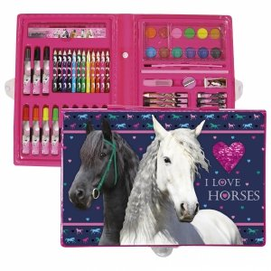 Zestaw artystyczny 71 elementów I LOVE HORSES Konie (ZA71KO17)