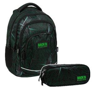 ZESTAW 2 el. Plecak szkolny młodzieżowy BackUP 26 L PROCESOR (PLB3A55SET2CZ)