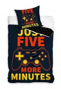 Pościel bawełniana GAME Five More Minutes 160 x 200 cm komplet pościeli (NL201070)