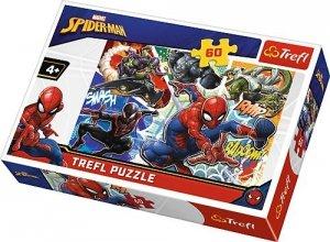 TREFL Puzzle 60 el. Waleczny Spider-Man (17311)