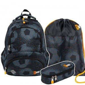 ZESTAW 3 el. Plecak szkolny młodzieżowy ST.RIGHT piłka nożna, FOOTBALL BP7 (27576SET3CZ)