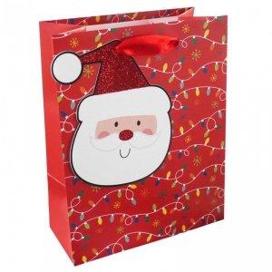 Torebka świąteczna na prezent MIKOŁAJ Incood. (0071-0313)