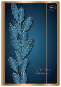 Teczka metaliczna rysunkowa A4 z gumką METALLIC GOLD Niebieska (94463)