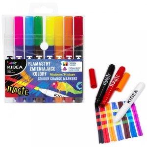 Flamastry Pisaki MAGIC zmieniające kolor 8 szt KIDEA (FZKKA)