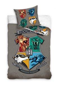 ZESTAW 3 el. Pościel bawełniana 160 x 200 cm + RĘCZNIK + PODUSZKA Harry Potter (HP201041SET3CZ)