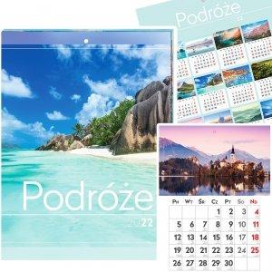 Kalendarz ścienny PODRÓŻE 31 x 23 cm 2022 (00201)
