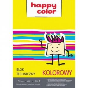 BLOK TECHNICZNY A4 kolorowe kartki HAPPY COLOR (06439)