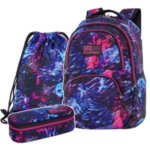 ZESTAW 3 el. Plecak CoolPack DART 27 L tropikalny sen, TROPICAL DREAM (C19146SET3CZ)
