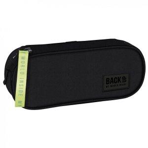 Piórnik szkolny BackUP czarny, FLUO BLACK (PB4A56)