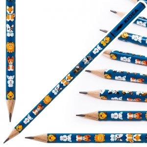 Ołówek szkolny trójkątny KIDEA HB PIESEK PIESKI (OTNKA)