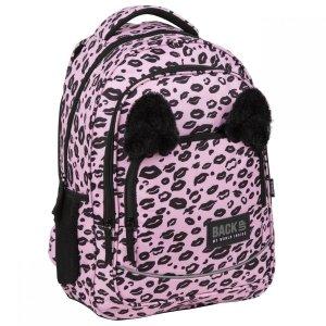 Plecak szkolny młodzieżowy BackUP 26 L PANTERKA z uszami (PLB3YA17)