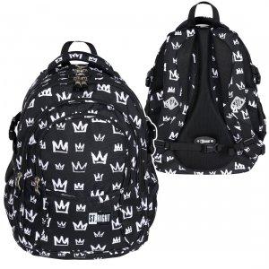 Plecak szkolny młodzieżowy ST.RIGHT w korony, CROWNS BP1 (26494)