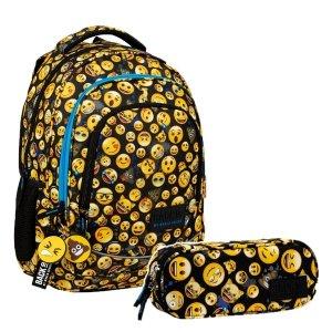 ZESTAW 2 el. Plecak szkolny młodzieżowy BackUP 26 L Emoji EMOTIKONY (PLB3XEM61SET2CZ)