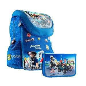 ZESTAW 2 el. Plecak dziecięcy PLAYMOBIL Policjant PL-11 (502020091SET2CZ)