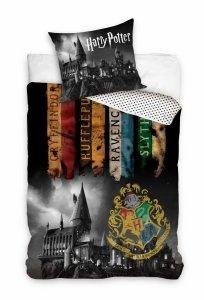 ZESTAW 3 el. Pościel bawełniana 160 x 200 cm + RĘCZNIK + PODUSZKA Harry Potter (HP203002SET3CZ)