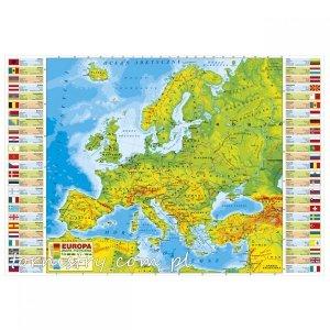 Podkład oklejany na biurko MAPA FIZYCZNA EUROPY (POEF)