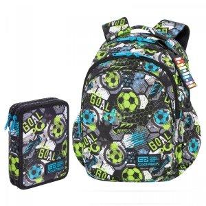 ZESTAW 2 el. Plecak CoolPack JERRY 21 L piłka nożna, FOOTBALL (C29230SET2CZ)