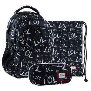 ZESTAW 3 el. Plecak młodzieżowy Head 27 L LOL (502020104SET3CZ)