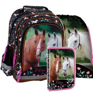 ZESTAW 3 el. Plecak szkolny I LOVE HORSES Konie (PL15BKO20SET3CZ)