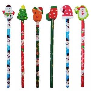 Ołówek świąteczny Boże Narodzenie MIX wzorów (902192)