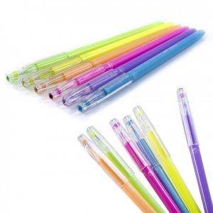 Długopisy pastelowe z kryształową końcówką 6 kolorów KIDEA (DPK6KA)