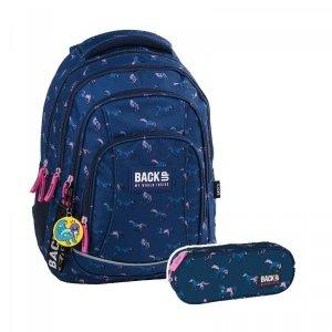ZESTAW 2 el. Plecak szkolny młodzieżowy BackUP KONIE (PLB2A17SET2CZ)