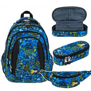 ZESTAWY 3 el. Plecak szkolny ST.RIGHT młodzieżowy XD ART BP4 (27033SET3CZ)