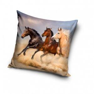 Poszewka na poduszkę HORSES Konie 40 x 40 cm (PNL191323)