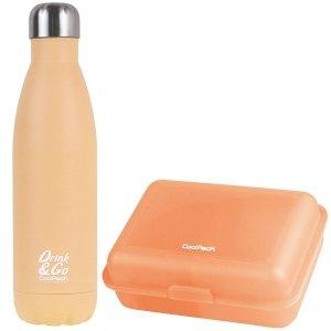 Zestaw bidon termiczny Drink&Go i śniadaniówka CoolPack FROZEN 2 pomarańczowy (Z03992+88253CP)