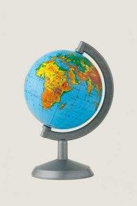 Globus fizyczny 70 mm mapa fizyczna (0027)
