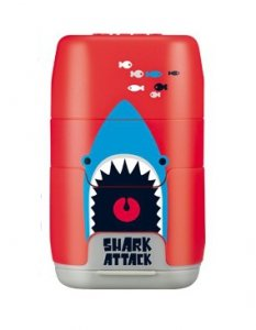 Temperówka podwójna z gumką do mazania Milan Shark Attack czerwona (4706116SRT)