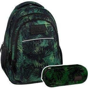 ZESTAW 2 el. Plecak szkolny młodzieżowy BackUP dżungla, KOMANDO (PLB2H49SET2CZ)