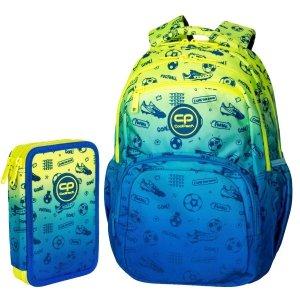 ZESTAW 2 el. Plecak CoolPack PICK  23 L piłka nożna,  FOOTBALL (D100339SET2CZ)