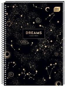 Kołozeszyt A4 100 kartek w kratkę MET DREAM Kosmos mix (94449)