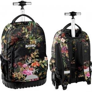 Plecak szkolny, młodzieżowy na kółkach kwiaty, FLOWERS Paso (PPRS20-1231)