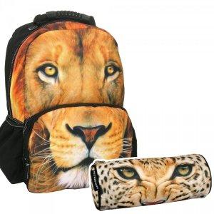 ZESTAW 2 el. Plecak szkolny FULLPRINT młodzieżowy LEW (PL17FA02SET2CZ)