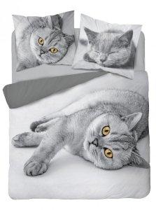 Pościel bawełniana HOLLAND COLLECTION NATURA 160 x 200 cm KOTEK Cat komplet pościeli (3521A)