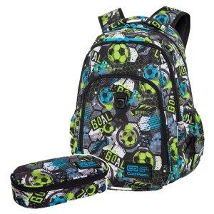 ZESTAW 2 el. Plecak CoolPack STRIKE L 27 L piłka nożna, FOOTBALL (C18230SET2CZ)