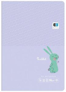 Zeszyt A5 w kolorową linię 32 kartek RABBIT króliczek (61311)