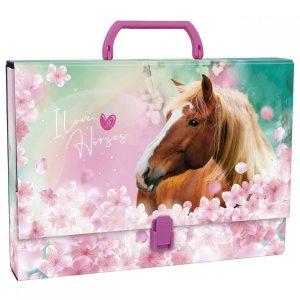 Teczka twarda z rączką I LOVE HORSES Konie (TTRKO19)
