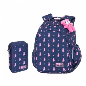 ZESTAW 2 el. Plecak CoolPack JERRY 21 L kotki, NAVY KITTY (C29240SET2CZ)