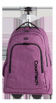Plecak szkolny młodzieżowy na kółkach COOLPACK SUMMIT fioletowy, SNOW PURPLE 851 (76135)