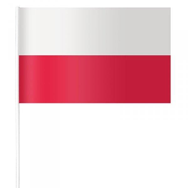 Chorągiewka flaga Polski papierowa  (1322)