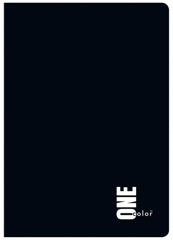Zeszyt A5 60 kartek w kratkę ONE COLOR Czarny (27003)