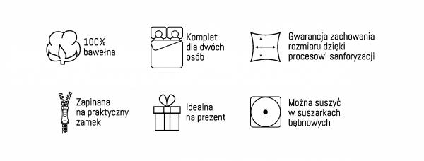 Pościel bawełniana HOLLAND COLLECTION 220 x 200 cm komplet pościeli (2975A)