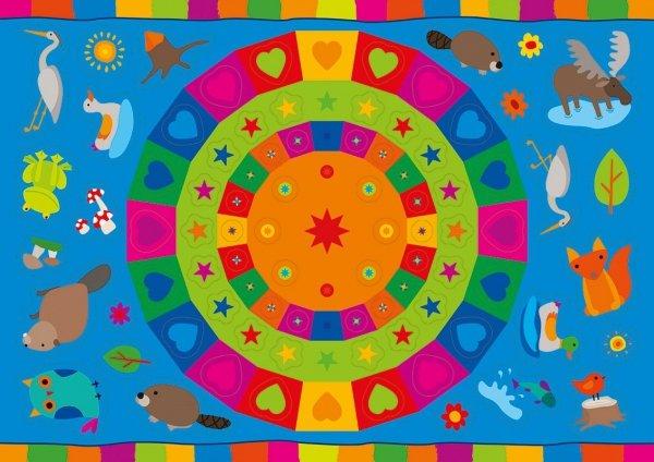 Kolorowanka z naklejkami OPOWIEŚCI O ZWIERZĘTACH BÓBR PLUMEK 3+ (43324)