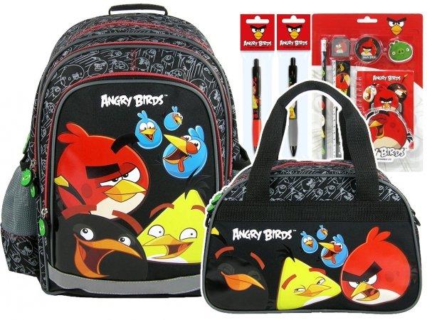 Zestaw Plecak szkolny + torba sportowa + GRATIS ANGRY BIRDS (PL15AB10SET)