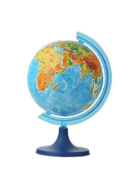 Globus fizyczny 110 mm mapa fizyczna (1314)